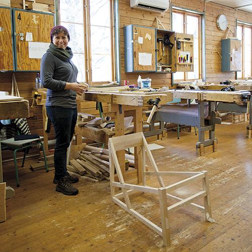 Agnete Mikkelson studerte ved Østfold Møbelsnekkerskole året 2012/2013