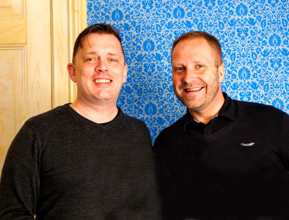Kjetil Strandabø (t.v.) og Jan W Schüssler kjøpte Nor i 2009.