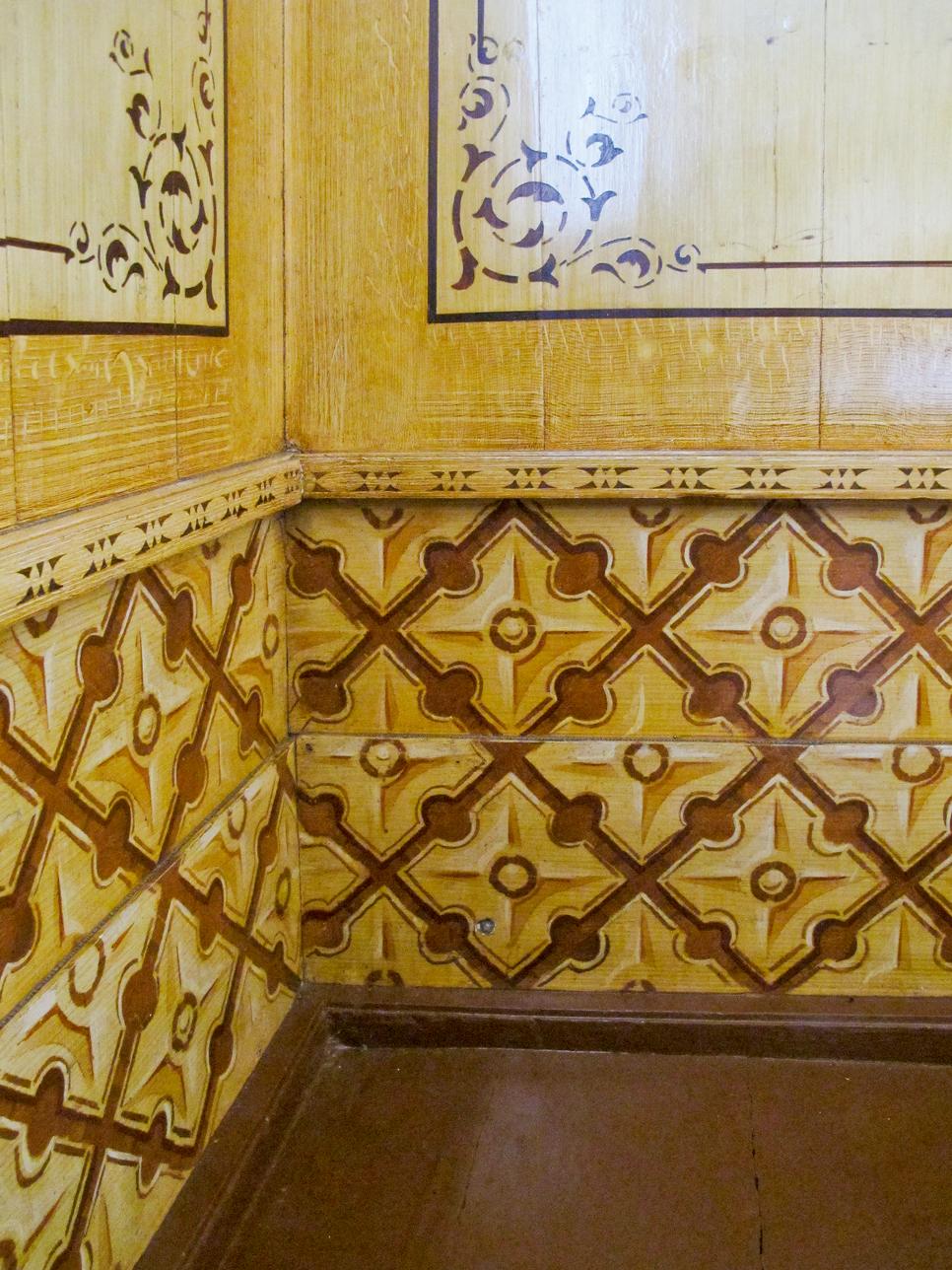Veggen i «Konjakkrommet», den dekorerte salen i føderådsbygningen.